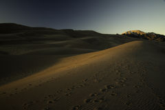 Great Sand Dunes at Sunset. Great Sand Dunes National Park at Sunset Royalty Free Stock Image