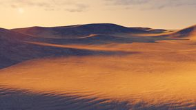 Great sandy desert at dusk Royalty Free Stock Photos