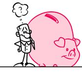 Great savings pig piggy bank Stock Photos