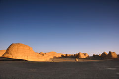 Great sceneries of Dunhuang Yadan National Geologi Stock Photo