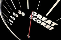 Great Score Finish Time Speedometer Words royalty free illustration