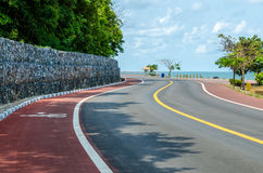 Great sea curve road Royalty Free Stock Image