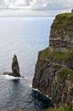 The Great Sea Stack at the Cliffs of Moher Royalty Free Stock Images
