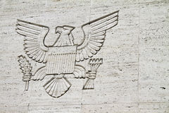 Great Seal. The Great Seal engraved on a concrete wall of a structure inside a military cemetery Royalty Free Stock Photo