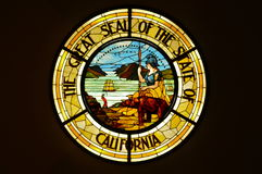 Great Seal of the State of California in Stained Glass Stock Image