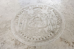 Great Seal of the State of Wisconsin in Fort Bonifacio, Manila, Philippines Royalty Free Stock Photography