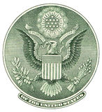 Great Seal of United States. From reverse of one dollar bill. Isolated over white with clipping path Royalty Free Stock Images