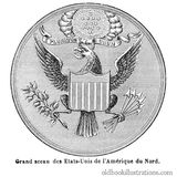 Great Seal of the United States Stock Photo