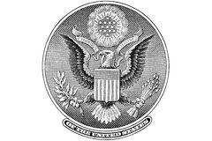 Great Seal of United States cutout Royalty Free Stock Photos