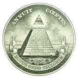 The Great Seal of the United States. From the reverse of a one dollar bill Royalty Free Stock Image
