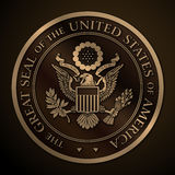 The Great Seal of the US Gold Stock Image