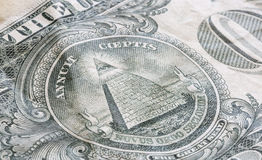 The Great Seal on the US One Dollar Bill Stock Image