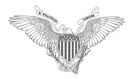 Great Seal of the USA. Illustration Stock Image