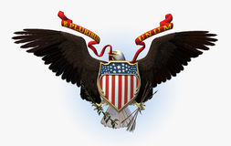 Great Seal of the USA - includes clipping path. 3D render of the Great Seal of the United States of America royalty free illustration