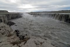 Great Selfoss waterfall in Iceland Royalty Free Stock Image