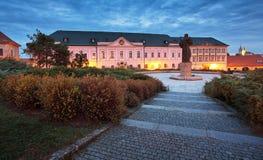 Free Great Seminar On Pribina Square In Nitra, Slovak Republic. Night Scene. Travel Destination. Religious Architecture Royalty Free Stock Photo - 163038505