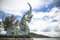 The Great Serpent Nag in Songkhla is located in southern Thailand at Song Thale Park. Asia Royalty Free Stock Photography