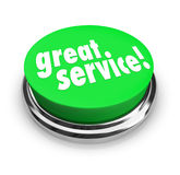 Great Service Feedback Response Review Button Stock Images