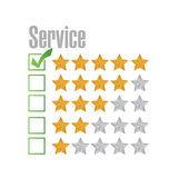 Great service rating illustration design Royalty Free Stock Images