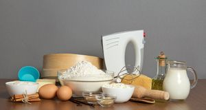 Great set for baking Royalty Free Stock Image
