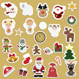 Great set of festive childrens Christmas stickers. Stock Image