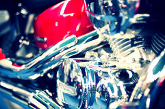 Great shiny motorcycle engine Royalty Free Stock Photo