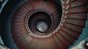 Great shot of ancient wooden stairs Royalty Free Stock Images
