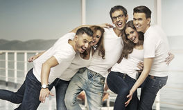 Great shot of attractive group of friends Royalty Free Stock Images