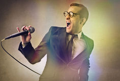 A great singer Royalty Free Stock Images