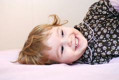 Great smile. Of cute child Royalty Free Stock Photography