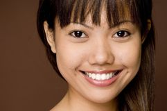 Great Smile. A cute young asian model with a great smile Royalty Free Stock Photography