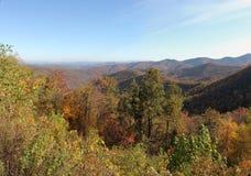 Great Smokey mountains. Scenic view of Autumnal trees in Great Smokey mountains, Tennessee and North Carolina, U.S.A Royalty Free Stock Photos