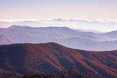 Great smoky mountain. In fog and cloud Stock Photography