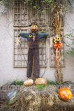 Halloween scarecrow character. Great Smoky Mountain National Park. Tennessee USA. Halloween Season with scarecrows Stock Images