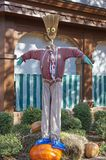Halloween scarecrow character. Great Smoky Mountain National Park. Tennessee USA. Halloween Season with scarecrows Stock Photo