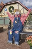 Halloween costumed scarecrows. Great Smoky Mountain National Park. Tennessee USA. Halloween Season with scarecrows and `spooky` dummy Royalty Free Stock Photo