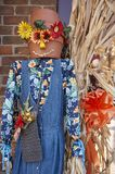 Halloween scarecrow character. Great Smoky Mountain National Park. Tennessee USA. Halloween Season with scarecrows and `spooky` dummy Royalty Free Stock Photos