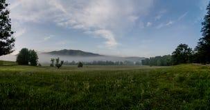 Great Smoky Mountain pasture at sunrise. Stock Photos