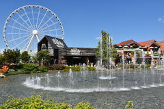 Great Smoky Mountain Wheel At The Island In Pigeon Forge, Tennessee Royalty Free Stock Photos