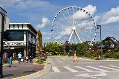 Great Smoky Mountain Wheel at The Island in Pigeon Forge, Tennessee Stock Photography