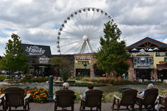 Great Smoky Mountain Wheel at The Island in Pigeon Forge, Tennessee. In the USA Royalty Free Stock Photos