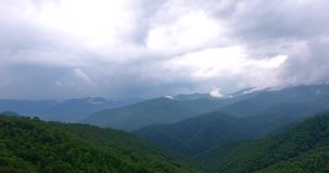 Great smoky mountains areal view