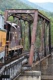 Great Smoky Mountains-Eisenbahn in Bryson City, North Carolina Lizenzfreies Stockfoto