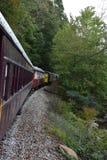 Great Smoky Mountains-Eisenbahn in Bryson City, North Carolina Lizenzfreie Stockbilder