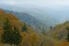 Great Smoky Mountains in fall colors. Stock Photo