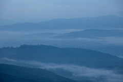 Great Smoky Mountains foggy silhouette Royalty Free Stock Images