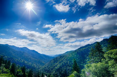 Great Smoky Mountains National Park on  north carolina tennessee Royalty Free Stock Photography