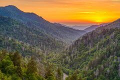Newfound Gap Smoky Mountains Stock Images