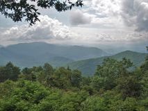 Great Smoky Mountains National Park. View of Great Smoky Mountains National Park from the overlook above Joyce Kilmer National Forest Stock Image