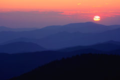 Great Smoky Mountains nationalpark Arkivbilder
